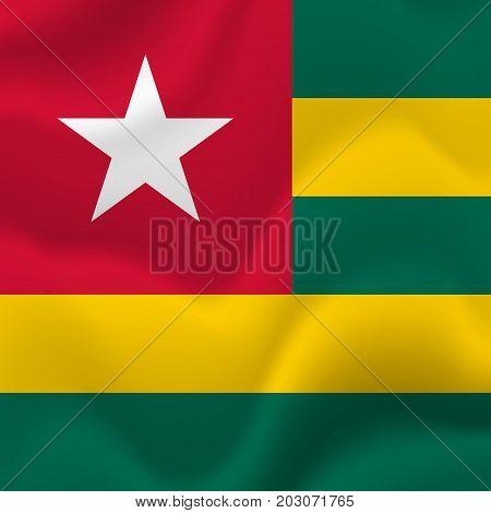 Togo waving flag. Waving flag. Vector illustration.