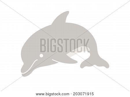 Dolphin Cartoon. Vector Illustration Of A Cute Cartoon Dolphin.