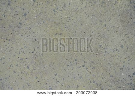 Pale Yellow Flat Grey Concrete Slab From Above