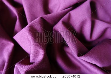Folded Reddish Violet Simple Viscose Stockinette Fabric