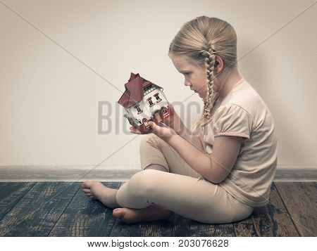 little girl dreams of a country house