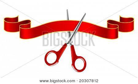 Tape and scissors, vector