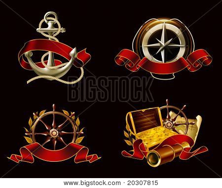 Marine Emblem set on black, 10eps poster