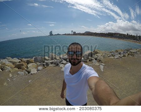 Selfie on French Riviera, France