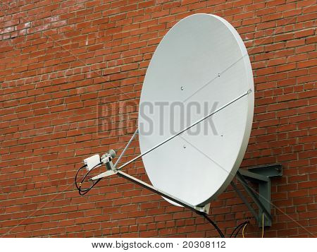 Satellite antenna.