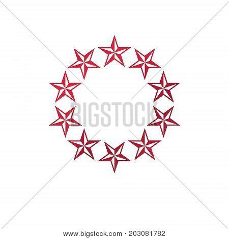 Military Star emblem victory award symbol. Heraldic Coat of Arms decorative logo isolated vector illustration.