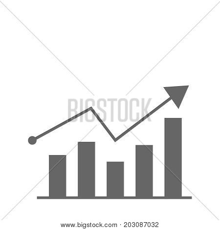 growth diagram icon, flat design best vector icon illustration eps10