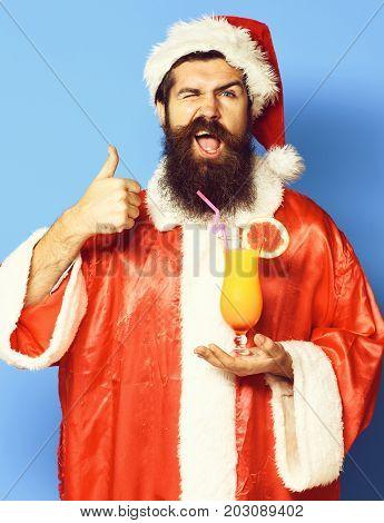 Handsome Bearded Santa Claus Man