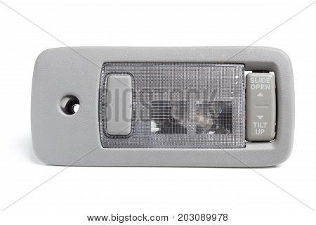 Automotive Ceiling Lamp With A Button Control Electric Sunroof