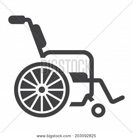 Wheelchair glyph icon, medicine and healthcare, disabled sign vector graphics, a solid pattern on a white background, eps 10.