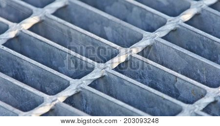 Picture with a beautiful gray metal floor cells