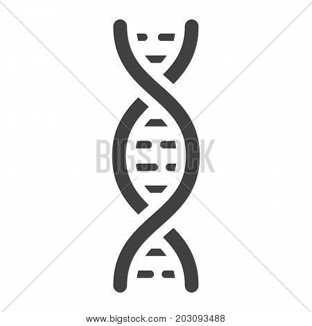 DNA glyph icon, medicine and healthcare, genetic sign vector graphics, a solid pattern on a white background, eps 10.