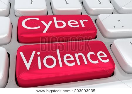 Cyber Violence Concept