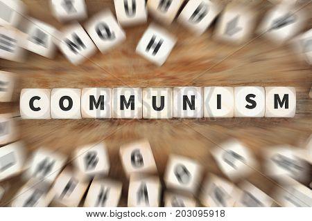 Communism Socialism Politics Financial Money Economy Dice Business Concept