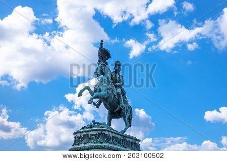 Vienna Equestrian Statue of archduke charles on Heldenplatz
