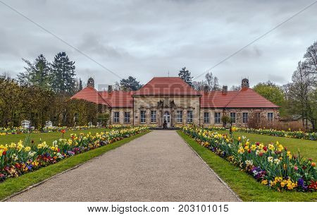 New Palace in Hermitage garden Bayreuth Germany