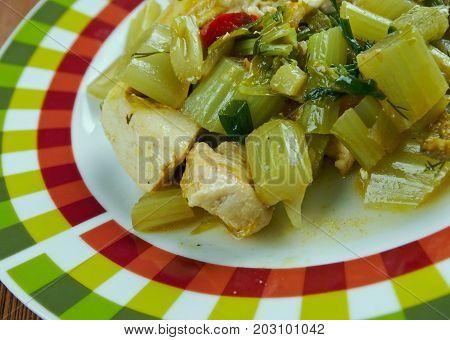 Khoresh Karafs - Celery Stew