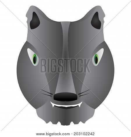 Isolated halloween werewolf mask on a white background, Vector illustration