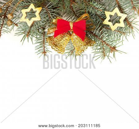 Christmas Border isolated on white