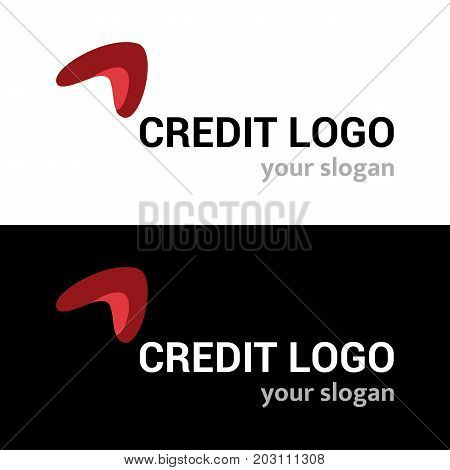 Abstract vector logo template for business company or identity on white and black background. Symbol concept for financial business service payment system banking and any money business.