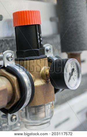 Water reducer. Plumbing equipment, water supply equipment
