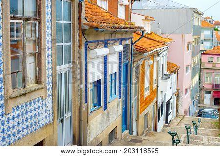 Porto Traditional Tiled Street, Portugal