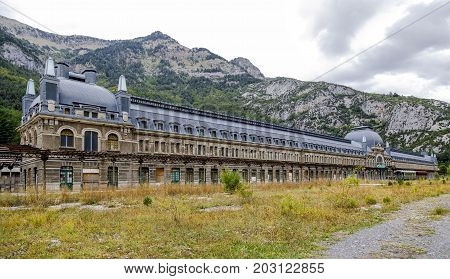 Abandoned railway station of Canfranc Huesca Spain