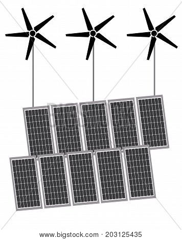 Solar and Turbine power generate electric isolated