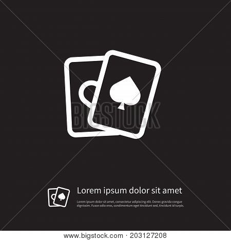 Ace Vector Element Can Be Used For Ace, Spades, Cards Design Concept.  Isolated Spades Icon.