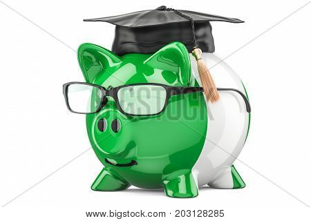 Savings for education in Nigeria concept 3D rendering isolated on white background