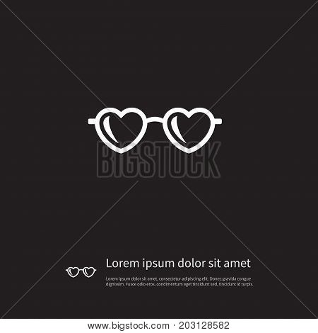 Glasses Vector Element Can Be Used For Spectacles, Sunglasses, Glasses Design Concept.  Isolated Spectacles Icon.