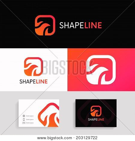 Abstract Flame Icon Fast Sign Turbo Logo Vector Design.