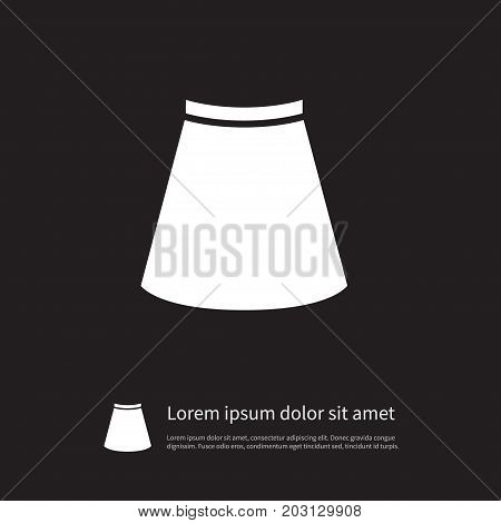 Stylish Vector Element Can Be Used For Skirt, Garment, Stylish Design Concept.  Isolated Garment Icon.