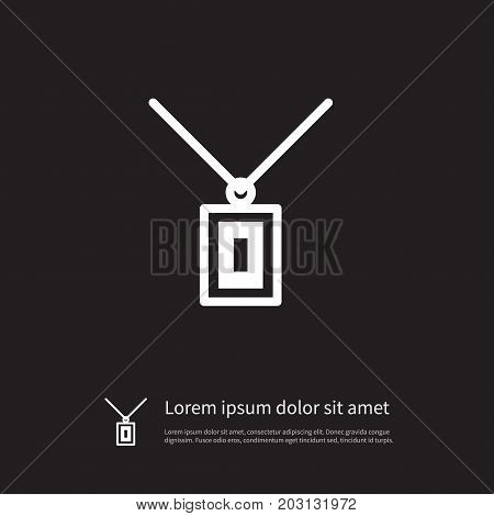Necklace Vector Element Can Be Used For Coulomb, Pendant, Choker Design Concept.  Isolated Chaplet Icon.