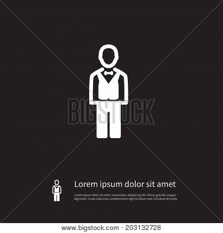 Chipper Vector Element Can Be Used For Steward, Chips, Croupier Design Concept.  Isolated Steward Icon.