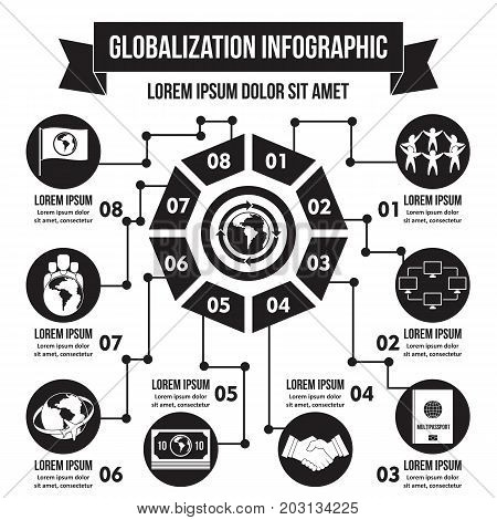Globalization infographic banner concept. Simple illustration of globalization infographic vector poster concept for web