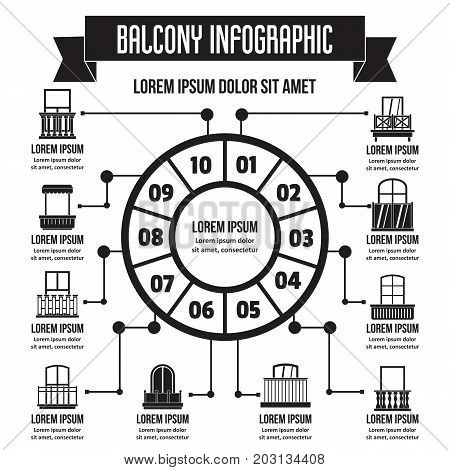 Balcony infographic banner concept. Simple illustration of balcony infographic vector poster concept for web
