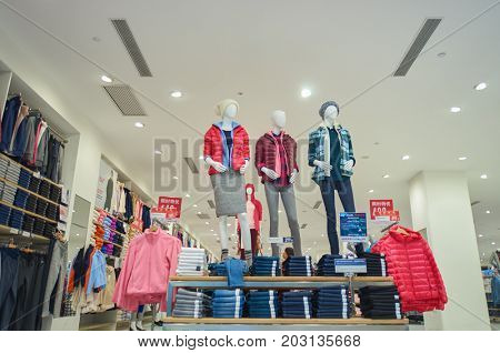 SHENZHEN, CHINA - OCTOBER 13, 2015: inside a store in Shenzhen. Shenzhen excellent shopping choices and offers tourists great shopping opportunities.
