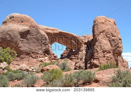 turret arch, arches national park in utah