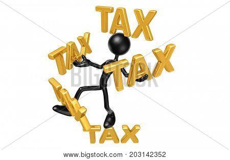 Balancing Taxes The Original 3D Character Illustration