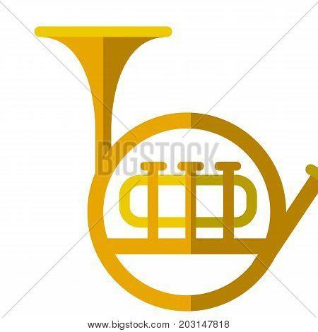 Tuba musical instrument flat icon, vector sign, colorful pictogram isolated on white. Symbol, logo illustration. Flat style design