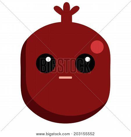 Garnet flushed face emoji vector illustration. Flat style design. Colorful graphics