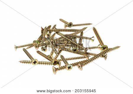 Various screws on a pile as aut .
