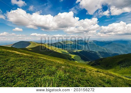 Mountain Ridge And Valley In Beautiful Carpathians