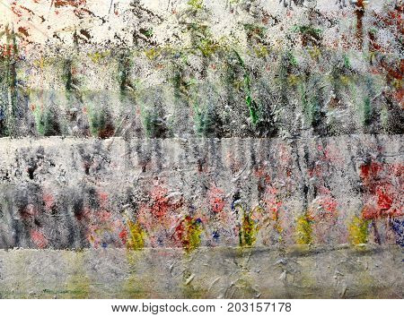 Beautiful Very large scale Abstract Painting On wood