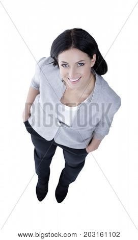 full-grown. top view.successful young business woman.