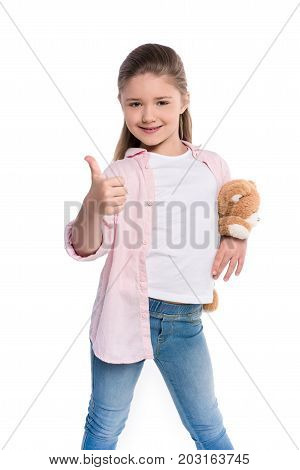 Little Girl Showing Thumb Up