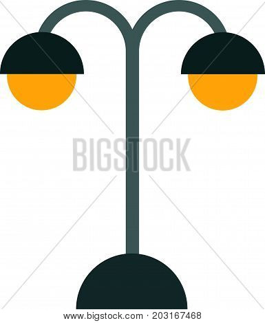 Retro street lamp. Object illustration. Street scene.