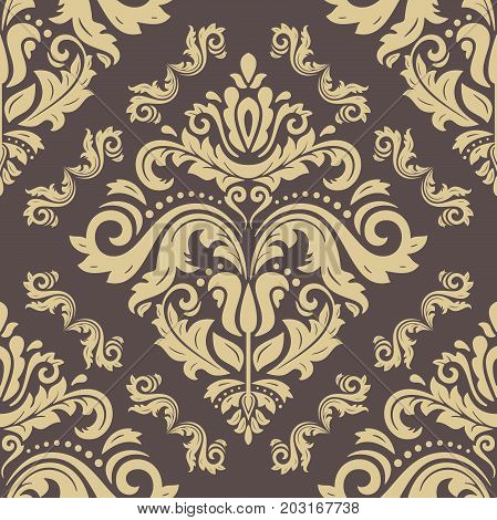 Seamless classic golden pattern. Traditional orient ornament. Classic vintage background