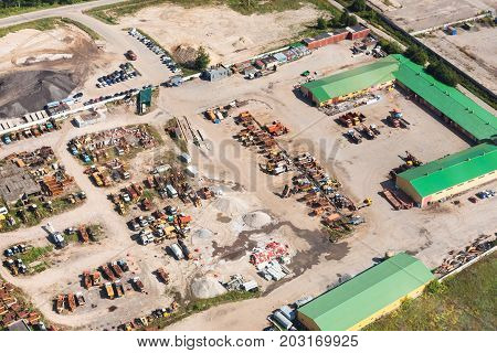 Above View Of Country Motor Depot